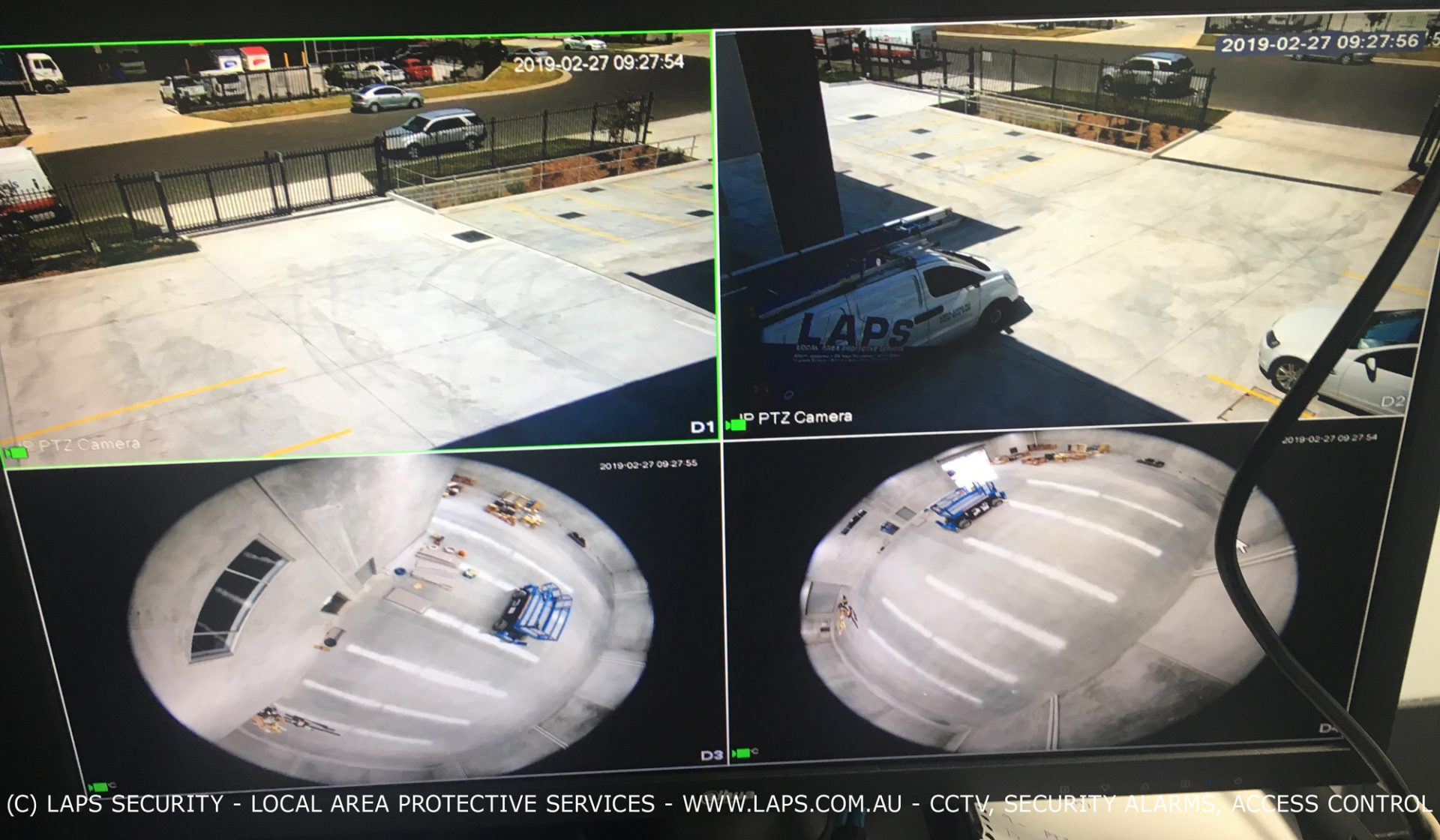 Surveillance images on NVR recorder